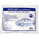 West Lake Clear Plastic Disposable Car Cover Temporary Universal Rain Dust Garage