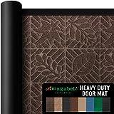 "Outside Shoe Mat Rubber Doormat for Front Door 18""x 30"" Outdoor Mats Entrance Waterproof Rugs Dirt Debris Mud Trapper Carpet"