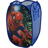 """Marvel Spiderman Pop Up Hamper with Durable Carry Handles, 21""""H x 13.5""""W X 13.5""""L"""