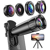 LIERONT スマホ用カメラレンズ iPhone、Samsung、Huawei対応、25X 望遠レンズ、4K HD 0…
