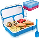 Pixi Creations Pack of 2 Bento Lunch Box for Kids, Leak-Proof 3-Compartment BPA Free Containers with Lids