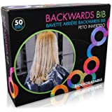 Framar Backwards Bib - 50 Bibs - Protects Salon Chair & Salon Cape from Hair Dye - Barber Cape & Hair Cutting Cape