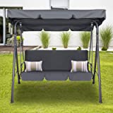 Milano Outdoor Swing Bench Seat Chair Canopy Furniture 3 Seater Garden Hammock