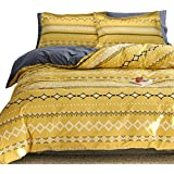Essina Mirofiber Queen Quilt Cover Duvet Cover Doona Cover Set 3pc Arcadia Collection, Soft and Lightweight, Bohemia