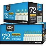 Shabbat Candles - Traditional Shabbos Candles - 3 Hour - 72 Count 2 Pack (144 Count) - by Ohr