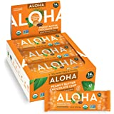ALOHA Organic Plant Based Protein Bars |Peanut Butter Chocolate Chip | 12 Count, 1.98oz Bars | Vegan, Low Sugar, Gluten Free,