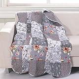 Barefoot Bungalow Giulia Throw Blanket, 50x60-inch, Gray