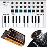 Arturia MiniLab MkII 25 Slim-Key Controller 25-Note USB Mini Keyboard Controller with 16 Encoders with Gravity Magnet Phone H