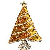 EVER FAITH Austrian Crystal Enamel Shining Star Wishing Tree Brooch
