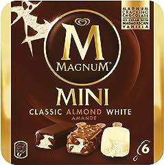 Magnum Mini Assorted (Almond, Classic, White) Multipack Ice Cream Stick, 55ml (Pack of 6) - Frozen