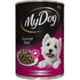 MY DOG Gourmet Beef Wet Dog Food 400g Can, 24 Pack, Adult, Small/Medium