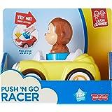 Hap-P-Kid Push and Go Racer Car, Yellow
