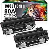 Cool Toner 2Packs Compatible for HP 80A CF280A 80X CF280X Toner Cartridge for HP Laserjet Pro 400 M401A M401D M401N M401DN M4