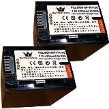 2個セット バッテリーキング NP-FH100 互換 バッテリー 4200mah 残量表示付 DCR-DVD308 DCR-DVD508 DCR-SR300 DCR-SR65 等対応 Shenzhen Kandese Technology Co, L
