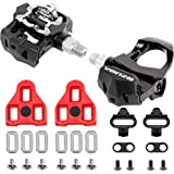 """Venzo Sealed Fitness Exercise Spin Bike CNC Pedals Compatible with - Look ARC Delta - Shimano SPD- Toe Clip or Cage - 9/16"""" T"""