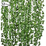 12 Strands Artificial Ivy Garland Flowers Ivy Hanging Vine Plant for Home Garden Decor 84Ft