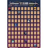 Guildable Top 100 Anime Scratch Off Poster - Anime Bucket List   Premium and Artistic Icons   Great Gift for Anime Enthusiast
