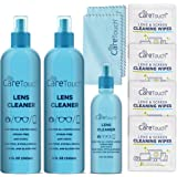 Care Touch Lens Cleaner Kit Safe for Glasses, Screens, Coated Lenses and Eyeglasses - Includes 3.