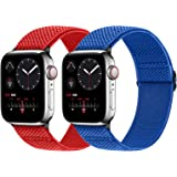 Neoxik コンパチブルApple Watchソフトナイロン編組弾性バンド交換ベルト耐衝撃 防汗調整可能Apple Watch Series 6/5/4/3/2/1/SE対応 38mm/40mm/42mm/44mm アップルウォ