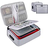 ENGPOW File Storage Bags,Fireproof Document Organizer Bag with Money Bag,Home Office Travel Safe Bag with Lock,Multi-Layer Po