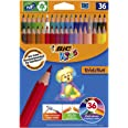 BIC 950526 Kids Evolution ECOlutions Colouring Pencil - Assorted Colours, Pack of 36 Coloured Pencils for Kids