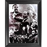 Martin Luther King Jr. I Have a Dream Framed 3D Lenticular Picture - 14.5x18.5 - Unbelievable Life Like Framed 3D Art Picture