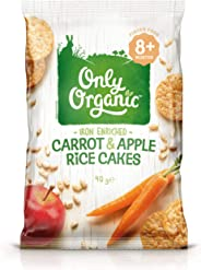 Only Organic Carrot & Apple Rice Cakes 8+ Months - 40g