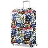 Samsonite 77995-6439 Printed Luggage Cover, License Plate, Medium