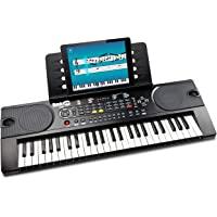 RockJam 49鍵 電子キーボード RJ549 【電源アダプター、譜面台、練習用オンラインアプリ付属】