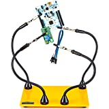 KOTTO Third Hand Soldering Tool PCB Holder Four Magnetic Based Flexible Metal Arms Helping Hands Crafts Jewelry Hobby Worksho