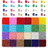 Nibiru Multicolor Opaque Glass Round Seed Beads Assorted Kit for Jewelry Crafting DIY Making (3mm 10000pcs)