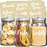 Pantry Labels for Jars, Canisters, Containers for Storage and Organization Product Accessories for Kitchen, Bathroom, Laundry
