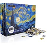 Jigsaw Puzzles 2000 Pieces Challenging Large Difficult Puzzles for Adults Starry Night by Vincent Van Gogh DIY Toys Home Deco