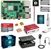LABISTS Raspberry Pi 4 Complete Starter Kit with Pi 4 Model B 4GB RAM Board, 32GB Micro SD Card Preloaded Noobs, 5V 3A...