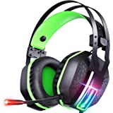 Mifanstech V-10 Gaming Headset for Xbox One Playstation 2 PS4 PS5 PC - 3.5mm Surround Sound, Noise Reduction Game Headphone w