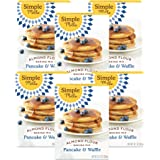 Simple Mills Almond Flour Mix, Pancake & Waffle, 10.7 Ounce, Pack of 6