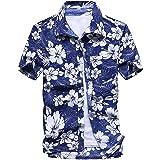 アロハシャツ メンズ ビーチシャツ 半袖シャツ 速乾 超軽量 プリントシャツ 夏 イベント 祭り 和柄シャツ ハワイアンシャツ [UVカット 紫外線対策加工]