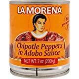 La Morena Chipotle Peppers in Adobo Sauce, 198 g, Adobo