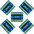 Aideepen 5個 Nanoターミナルアダプター コントローラーシールド拡張ボード、Arduino NANOと互換性のNano V3.0 AVRATEMGA328P-AUモジュールボード用、DIY Nano IO シンプル拡張ボード ネジ端子 便