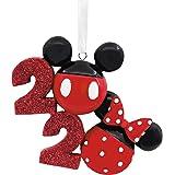 Hallmark Christmas Ornament 2020 Year-Dated, Disney Mickey and Minnie Icons