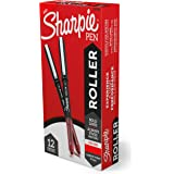 Sharpie Rollerball Pen, Arrow Point (0.7mm) Pen for Bold Lines, Red Ink, 12 Count