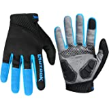 KUTOOK Full Finger Cycling Gloves Touch Screen Gel Pad MTB Gloves for Men Women