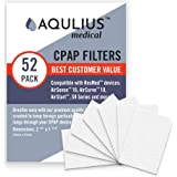 Disposable CPAP Filters (52 Pack - ONE Year Supply) - Fits All ResMed Air 10, Airsense 10, Aircurve 10, S9 Series, Airstart a