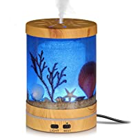Aigoceer 加湿器 卓上 アロマディフューザー アロマ 卓上加湿器 空気清浄機 海洋 超音波式加湿器 LED ライ…