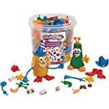 Colorations - BUILDME Creative Creatures Dough Builders, 260 Pieces, Body, Person, Eyes, for Kids, Screen-Free Play Time