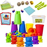 Counting Bears Set - 132 pcs -Designed by Teachers to Help Your Child with Counting, Colours, Coordination, Concentration and