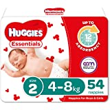 Huggies Essentials Nappies Size 2 (4-8kg) 54 Count