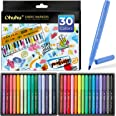 Fabric Markers Pen, Ohuhu 30 Colors Permanent Fabric Paint Marker Pens for DIY Costumes, T-Shirt, Clothes, Shoes, Bags, Canva