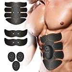 Muscle Toner, LZLRUN Abdominal Toning Belt, EMS Abs Trainer Wireless Body Gym Workout Home Office Fitness Equipment For...