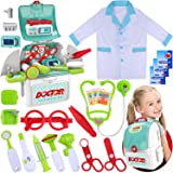 GINMIC Toy Doctor Kit for Kids, Toddlers Pretend Play Doctor Set with Stethoscope, Medical Kits for Boys Girls Age 3 4 5 6 7